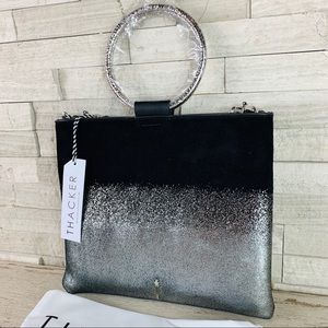 Thacker NWT LE POUCH Hammered Silver Ombré/Nickel